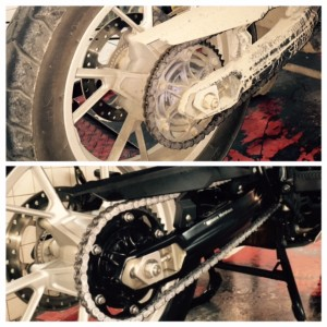 Antes y despues BMW F650GS