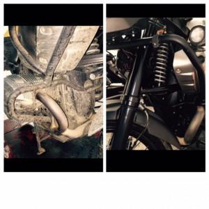 Antes y después BMW R1200GS 2012